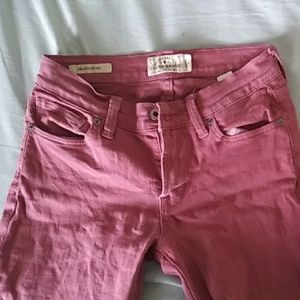 Lucky Brand pink skinny jeans